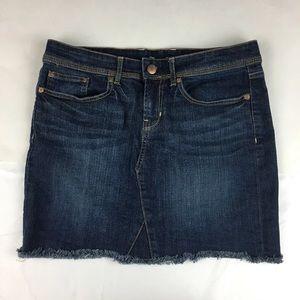 Gap factory womens dark wash denim skirt Sz 4